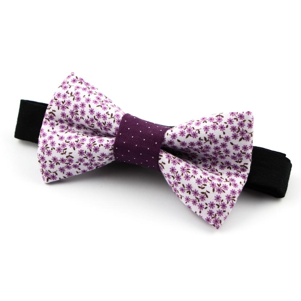 noeud papillon en tissu liberty lilas et violet le tallardiens. Black Bedroom Furniture Sets. Home Design Ideas