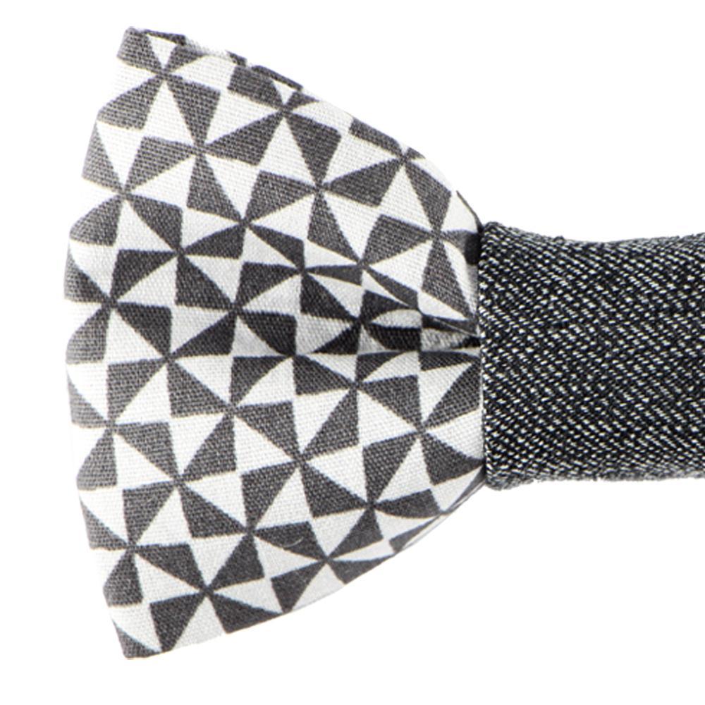 noeud papillon motifs g om triques gris le veynois. Black Bedroom Furniture Sets. Home Design Ideas