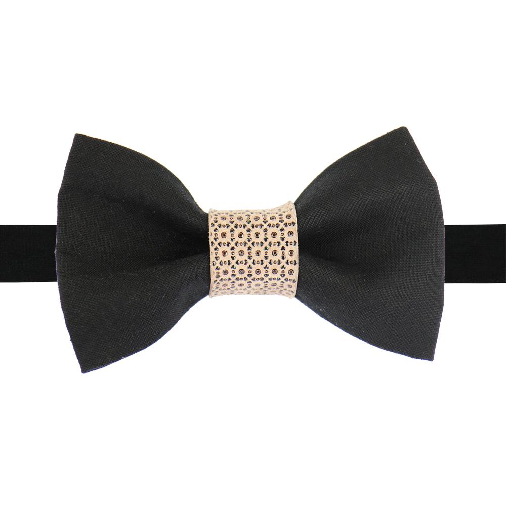 noeud papillon noir et cuir emboss rose poudr pour un. Black Bedroom Furniture Sets. Home Design Ideas